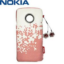 Genuine NOKIA Pouch CP-294 Universal Use Pink White + Dangly Charm 11x6.5x2.5Cm
