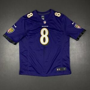 100% Authentic Lamar Jackson Nike Ravens On Field Game Jersey Size 2XL 52 Mens