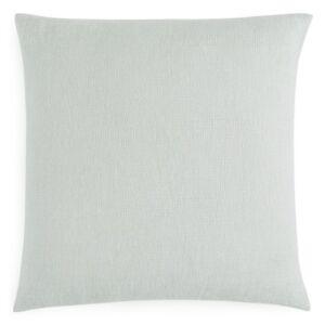 "Sferra Perlo Linen Lambswool Feather Down 23"" x 23"" Decorative Pillow GREY E186"