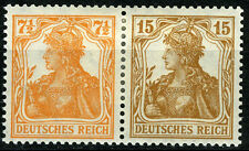 Germania Se-Tenant,  Mi. W 10 aa, MLH