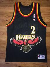 STACY AUGMON Vtg 90's BIG HAWK Hawks CHAMPION Basketball Jersey tank top Sz 40