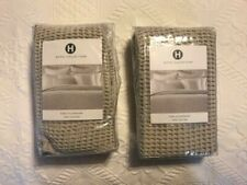 "HOTEL COLLECTION SET OF 2 ""WAFFLE WEAVE"" EURO PILLOW-SHAMS [NEW]"