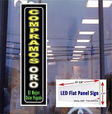 COMPRAMOS ORO el mejor dolar pagado (Spanish) 48x12 Led window sign