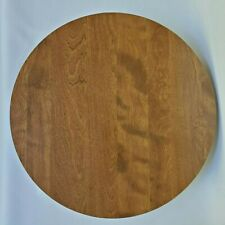 "Ethan Allen American Tradition 20"" Maple Birch Wood Lazy Susan Turntable"