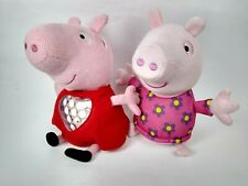 2 Peppa Pig Plush Soft Toys Bundle
