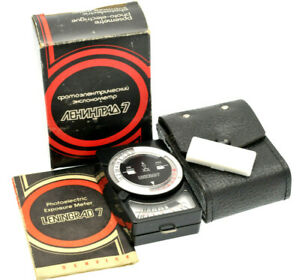LENINGRAD 7 Camera Exposure Light Meter in Original Case Box - Fully working