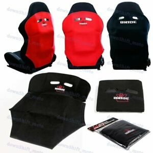 1PCS JDM Black Racing Seat Protector Cover Cotton Seat Dust Boot Bride Logo