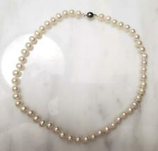 """Freshwater Pearl Necklace With Magnetic Clasp 17-1/2"""" ~ 8-I394"""