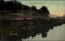 Norwich CT RR Train at Laurel Hill Ave c1910 Postcard