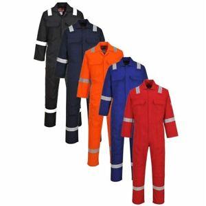Portwest BIZ5 Hi Vis Bizweld Welder Overall Coverall Boiler Suit Flame Retardant