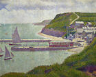 Harbour at Port Bessin at High Tide Georges Seurat Fine Art Print Painting Small