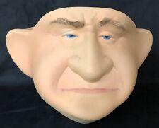 Debbie Fecher Gramstad Pottery signed Old Man Face Vase Planter 1993 OOAK 7
