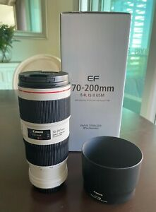 Canon EF 70–200mm f/4L IS II USM Camera Lens - MINT