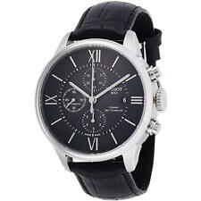 Tissot Men's 44mm Leather Band Steel Case Automatic Watch T099.427.16.058.00