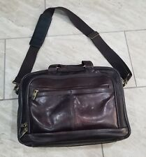Samsonite Brown Leather Shoulder Bag Briefcase Proffesor Messenger