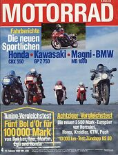 Motorrad 4 1982 ADM 500/4 Maico MC490 Magni BMW MB1000 Honda GL500 Silver Rotax