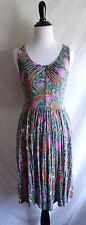 Anthropologie Lilka M Seaglass Chemise Keyhole Paisley Jersey Summer Dress