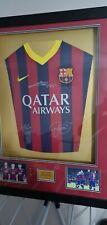More details for fc barcelona t shirt signed