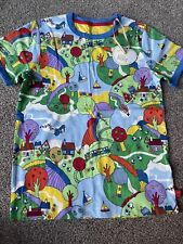 Little Bird By Jools Oliver Countryside All Over Print Ringer T-shirt 6-7 Years