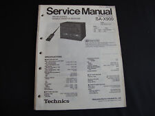 ORIGINALI service manual TECHNICS Ricevitore sa-x900