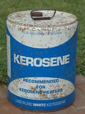 Vintage 5 Gallon Kerosene Can Blue & White
