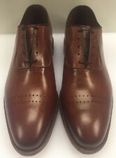 Allen Edmonds Vernon Saddle Brown Cap Toe Perf Men's 9 D US Made $385 NIB 8838