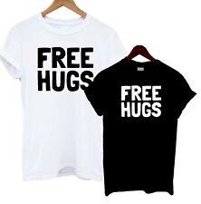 Free Hugs T Shirt Tee Statement Present Joke Funny Gift Happy Love Cuddles Cute