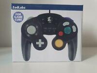 Controller for GameCube Nintendo Wired Vibration turbo gamepad – Black | ZedLabz