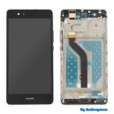 GLS DISPLAY+ TOUCH SCREEN +COVER ORIGINALE PER HUAWEI P9 LITE NERO FRAME NUOVO