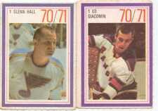 1970-71 Esso hockey card stickers  lot of 2 goalies. Ed Giacomin & Glenn Hall