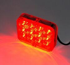 Nebelschlussleuchte Rücklicht für Anhänger mit 12 LED's super hell 100x80x25mm