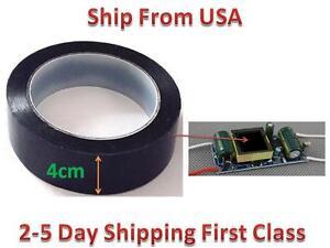 Insulation Adhesive Mylar tape Hig-Temp  Transformer Coil Wrap Black 4CM*66M