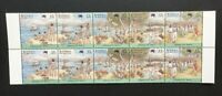 AUSTRALIA 1988 Bicentenary - Arrival of First Fleet 2 x Set MNH (SG 1105a)
