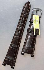 19mm/12 IN VERO ALLIGATORE Compatibel Pasha krokoband Rios clasp Watch Strap Brown