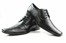 Mens Zasel Gabriel Black Leather Lace Up Work Dress Formal Casual Business Shoes