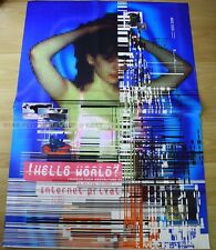 SWISS EXHIBITION  POSTER 1996 - HELLO WORLD? - INTERNET PRIVATE * ART PRINT www