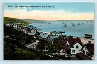 San Diego, CA - UNUSED EARLY 1900s VIEW OF FORT ROSECRANS HARBOR - POSTCARD S3