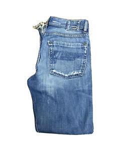 Original Diesel Kuratt 772 Reg Straight Blue Marbled Denim Jeans W30 L30 ES7912