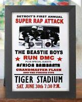 Beastie Boys Tiger Stadium Super Rap Attack Detroit Run Dmc mini Framed Poster