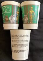 Lot of 3 1983 Star Wars ROTJ - Pepperidge Farm Plastic Cup Ewok C-3PO R2-D2