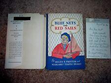 1936 Signed hc/dj BLUE NETS & RED SAILS Helen B Preston & Braley Brittany France