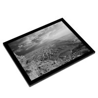 A3 Glass Frame BW - Ruins King Herod's Palace Israel  #37602