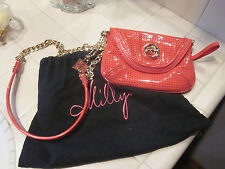 MILLY CORAL MINI FLAP CROSS-BODY PATENT LEATHER BAG WITH GOLD HARDWARE NEW