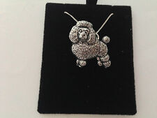 D3 Poodle on a 925 sterling silver Necklace Handmade 26 inch chain