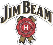 "Jim Beam Alcohol Bumper sticker, wall decor, vinyl decal, 5""x 4"""