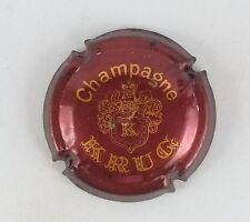 capsule champagne KRUG n°35 marron et or