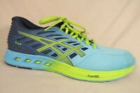 Asics FuzeX Turquoise Yellow Blue Athletic Running Sneakers Shoes Womens 9.5