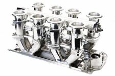 SBC Polished Aluminum EFI Fuel Injection Hilborn Style Down Draft Intake Chevy