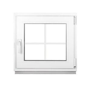 das Fenster mit Sprossen 2 Fach Dreh-Kipp Weiß - Premium