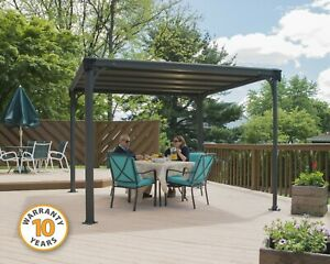 GAZEBO/ PERGOLA/ HARDTOP OUTDOOR KIT MILANO 3000 Grey/Bronze. 10 YR WARRANTY!!